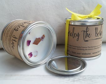 Bercley Candle, Rose Scented Candle, Soy Wax Candle, Hare Candle, Natural Candle, Wood Wick Candle, Tin Candle, Candle Gift, La Lune