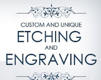 Laser Ring Engraving  - Personalize Any Ring - Customize Any Band
