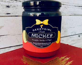 Mickey | Mickey Mouse Inspired Candle | Pineapple, Vanilla, & Magic
