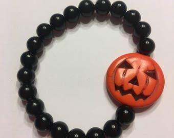 Jack o lantern bracelet