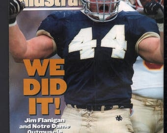 Vintage Magazine - Sports Illustrated : November 22 1993 - Jim Flanigan