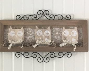 Metal Owl Wall Decor owl wall decor | etsy