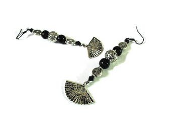 Pair of black and Silver earrings