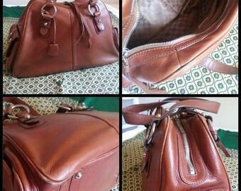 Leather vintage purse Doctor bag