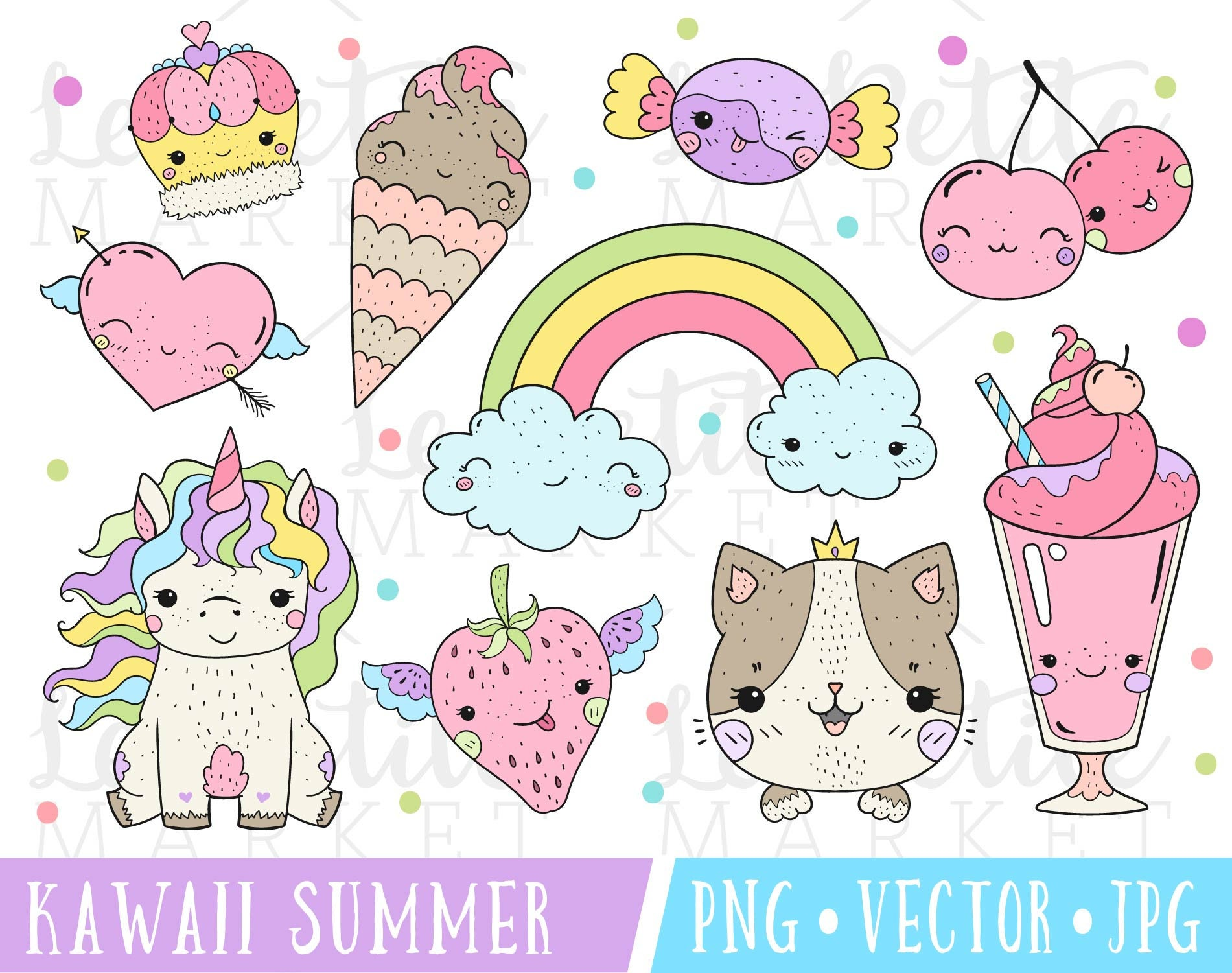 kawaii summer clipart set kawaii stamps kawaii unicorn newborn clipart black and white newborn clip art for girls