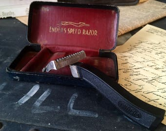 Vintage Razor, Ender's Speed Razor, Early 1900's Single Razor, Men's Shaver, Early Vintage Razor Safety Blade Single Blade Razor