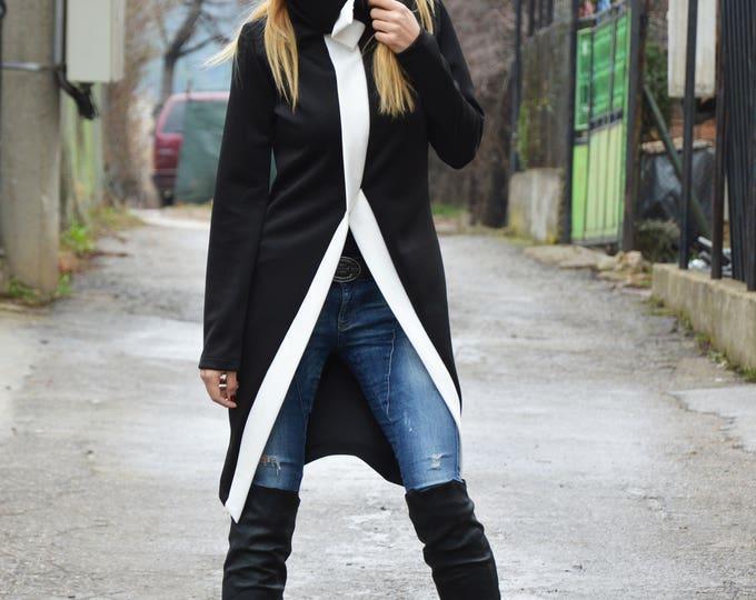 Plus Size Turtleneck Design Dress, Sexy Casual Dress, Asymmetrical Oversize Neoprene Dress by SSDfashion