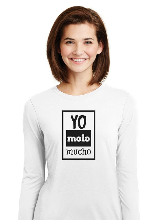 Round neck women t-shirt YO MOLO MUCHO