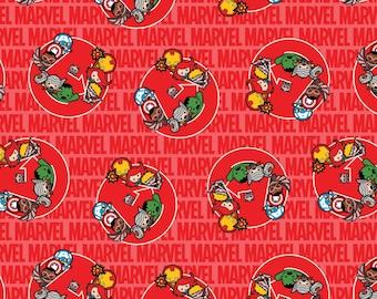 Marvel Kawaii United Cotton Woven, Marvel Kawaii, Marvel Kawaii Fabric, Kawaii Marvel, Kawaii Marvel Fabric, Kawaii Avengers Fabric