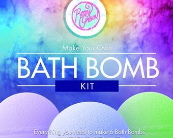 Bath Bomb Kit-DIY bath bombs Make your own bath bombs for or with your friends! Great Gift Item-Comes with Bags and hang tags