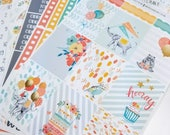 Party Animals | Vertical weekly kit | Planner stickers for Erin Condren/ Happy Planner/ A5/ Personal etc Planners  (#ws-PA)
