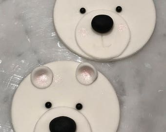 Adorable polar bear cupcake toppers...! Perfect for your holiday cupcakes...!