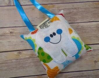 Tooth Fairy - Tooth Fairy Pillow - Tooth Fairy Pillow Boy - Tooth Fairy Gift - Lost Tooth - Tooth Pillow - Tooth Keeper - Dinosaur Boy Gift