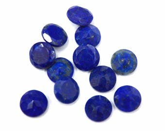 Lapis Lazuli round cut 10 pcs. lot AAA quality Natural Blue Lapis Lazuli round cut faceted loose gemstone for jewelry