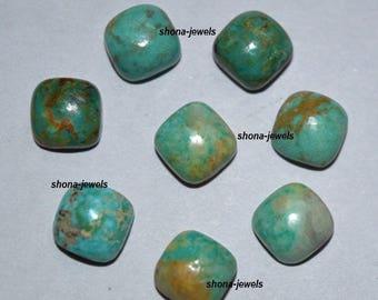25-P Wholesale Lot Of Natural Turquoise cushion Shape Loose Gemstone Cabochon