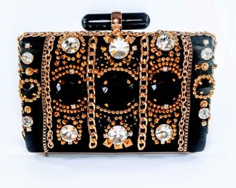Black & Gold Statement Clutch