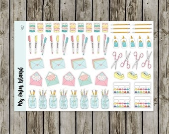 902 Crafting Supplies / Deco // Matte Repositionable Stickers // Any Planner // Stationary
