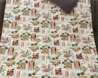 Surfboard Hawaiian blanket