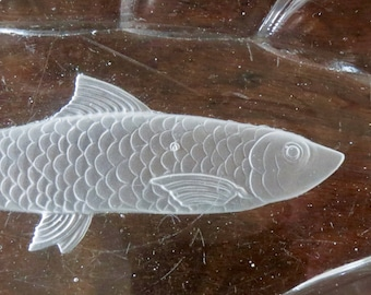 Glass fish plate etsy for Funky canape trays