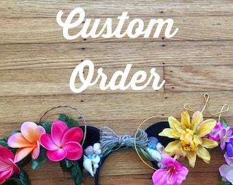 Custom Flower Crown for Mai