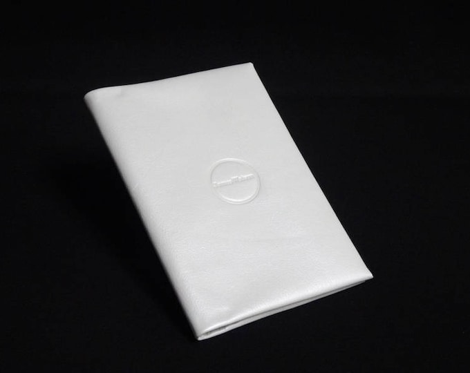 Passport Travel Wallet - White Gloss - Kangaroo leather with RFID Passport and Credit Card chip blocking - Handmade - James Watson