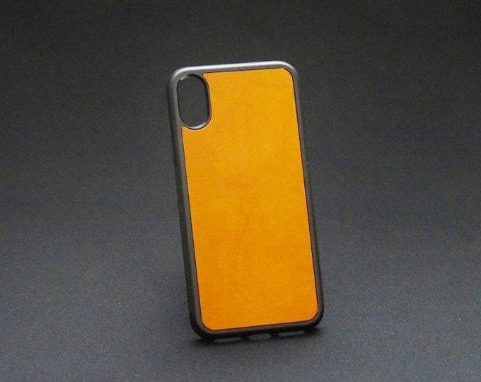 Apple iPhone X 10 - Jimmy Case in Whiskey Tan - Kangaroo leather - Handmade - James Watson