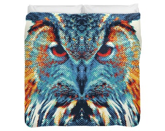 Wolf - Colorful Animals Duvet Cover / Comforter