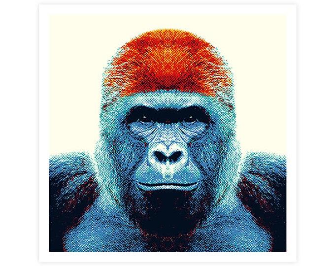Gorilla Art Print - Colorful Animals