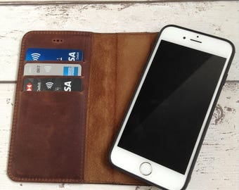 iPhone X Case Leather Detachable iPhone X wallet case Leather iPhone X Case Personalised Gift 3rd Anniversary Gift for Men Christmas Gift