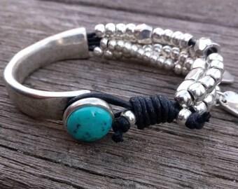 uno de 50 style bracelet, unisex leather bracelet