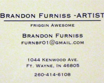 Autographed Business Card