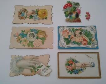 Antique Calling Cards, Edwardian Calling Cards, Victorian Ephemera, Edwardian Ephemera, Die Cut Cards, Vintage Calling Cards, Hand Ephemera