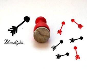 Stamp mini, arrow, rubber stamp Ø 12 mm