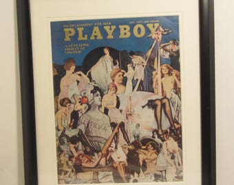 Vintage Playboy Magazine Cover Matted Framed : July 1972 -  Photograph by Robert Harmon