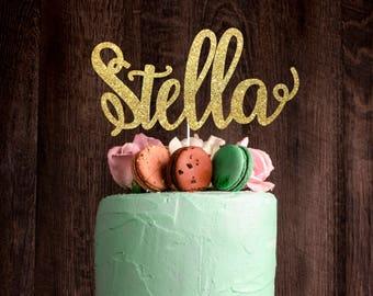 Any Name Cake Topper, Custom cake topper, Birthday cake topper, glitter cake topper