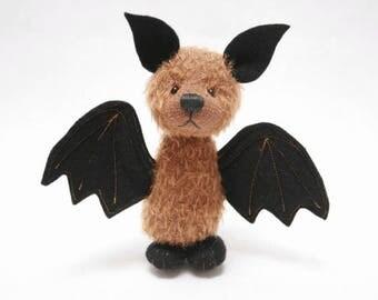 Lucas the bat artist bear OOAK