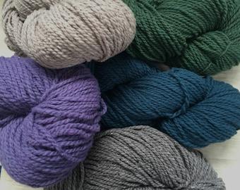 Imperial COLUMBIA 13.50+1.50ea to Ship Traditional Aran Farm Wool Mill Ends 170yd Iris 112-Desert 119-Quail 46-Teal 101-Pine 124 +PATTERNS