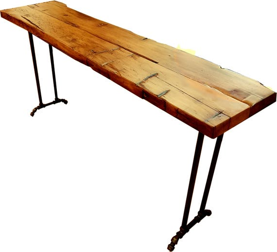 Wide reclaimed wood console table sofa table 12 to for 12 wide table