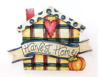 FALL MAGNETS, Harvest Time, Harvest Home, MAGNETS, Thanksgiving, Fall Decor, Country Decor, Harvest Table, Harvest Decor, Home Sweet Home