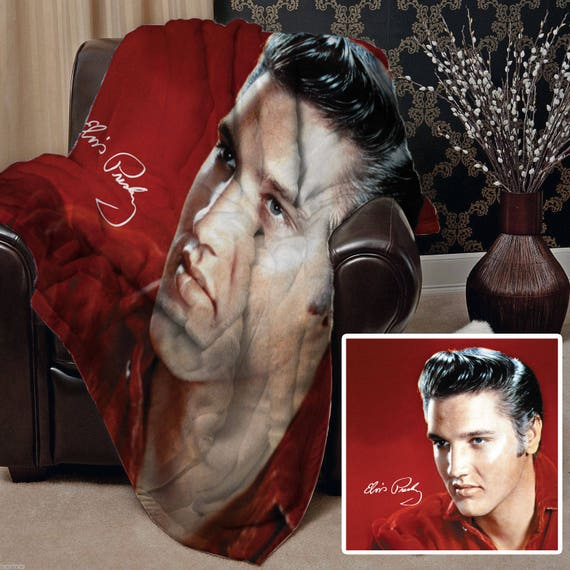 Elvis Presley Design Soft Fleece Blanket