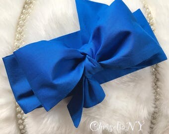 COBALT BLUE Headwrap, Newborn Headwrap, Fabric Headwraps, blue Headwrap, Toddler Headwrap,  baby headwrap, baby headband, headwraps