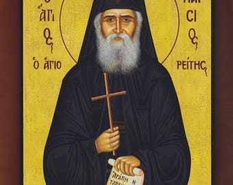Saint Paisios of Mount Athos.Christian orthodox icon.FREE SHIPPING.