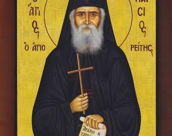 Saint Paisios of Mount Athos.Christian orthodox icon.FREE SHIPPING.