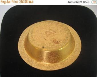 ON SALE Rare Deco Silver Crest Bronze Change Holder Ashtray
