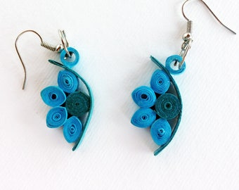 Paper Quilled Earrings, Paper Quilling Jewelry, Quilled Jewelry, Paper Quilling