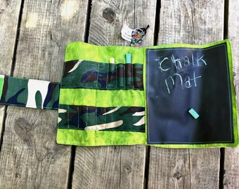 CLEARANCE  Travel Chalk Mats, travel toy, trip toy, chalkboard mat, travel mats