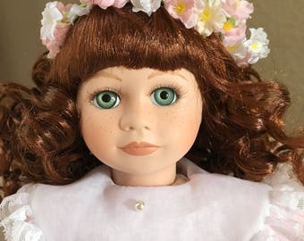 Dynasty Doll Collectible Porcelain Beautiful Samantha 21""