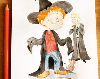 Original illustration - Must be a Weasley