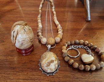 Picture Jasper Set / New Age/ Metaphysical/ Unique Gifts/ Free shipping US Only