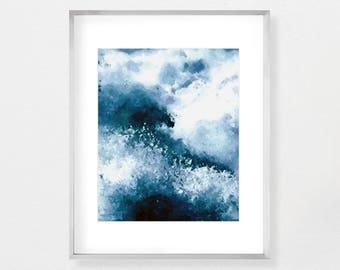 Ocean Art Print, Ocean Waves Art, Ocean Water Print, Coastal Wall Decor, Beach Decor, Printable Poster, Large Wall Art, Instant Download